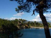 Zip-lining park in Guadarrama children offer