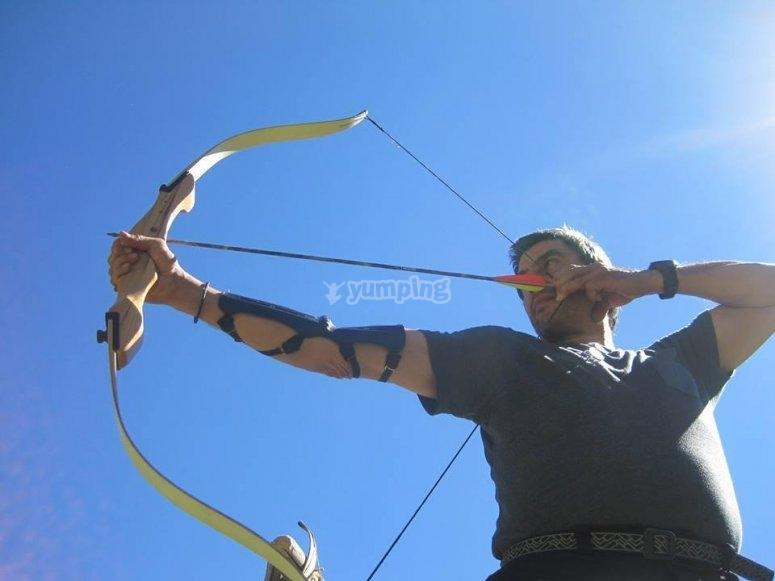 Tiro con arco en Hoyos del Espino