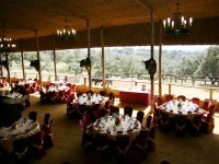 Triana room overlooking the riding school for 450 people
