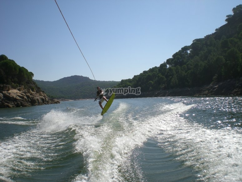 Wakeboarding in San Juan Reservoir