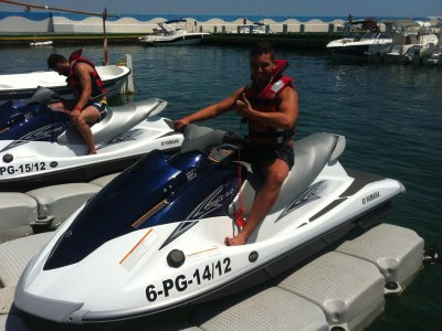15 min ride on two-seater jet ski Platja D'Aro