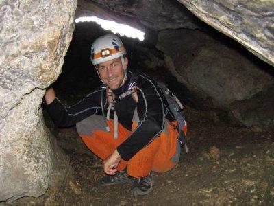 Espeleología en la Cueva del Agua, Prado Negro