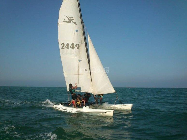 Cours de perfectionnement en catamaran