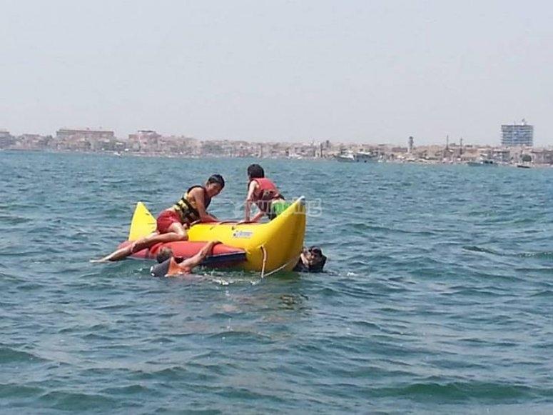 Tirada en banana boat