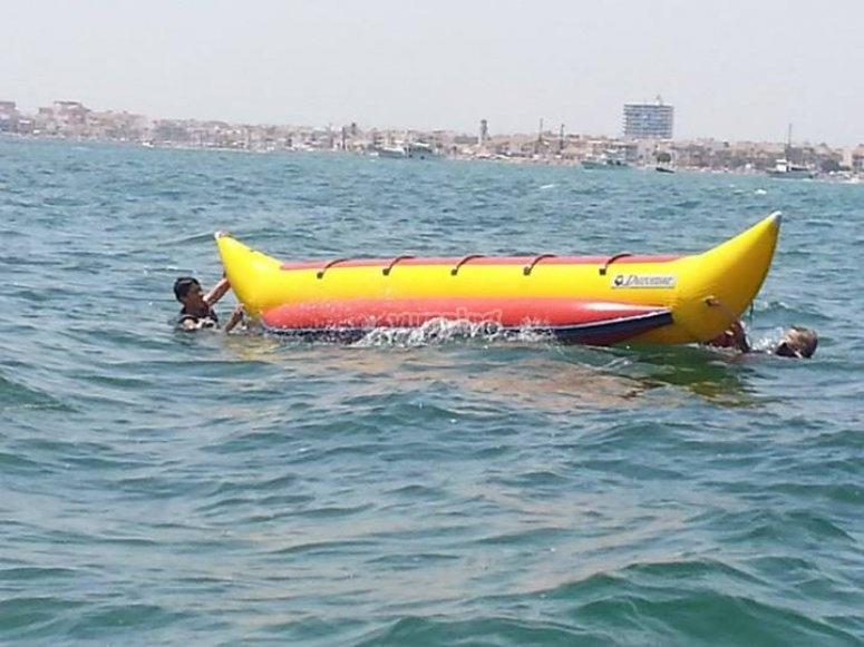 Diversión en banana boat