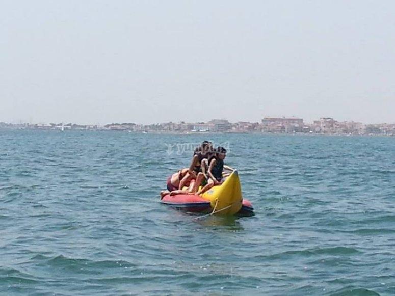 Ride on the banana boat