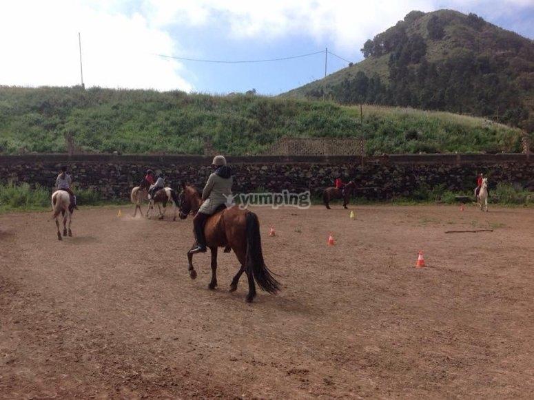 Tour on horseback