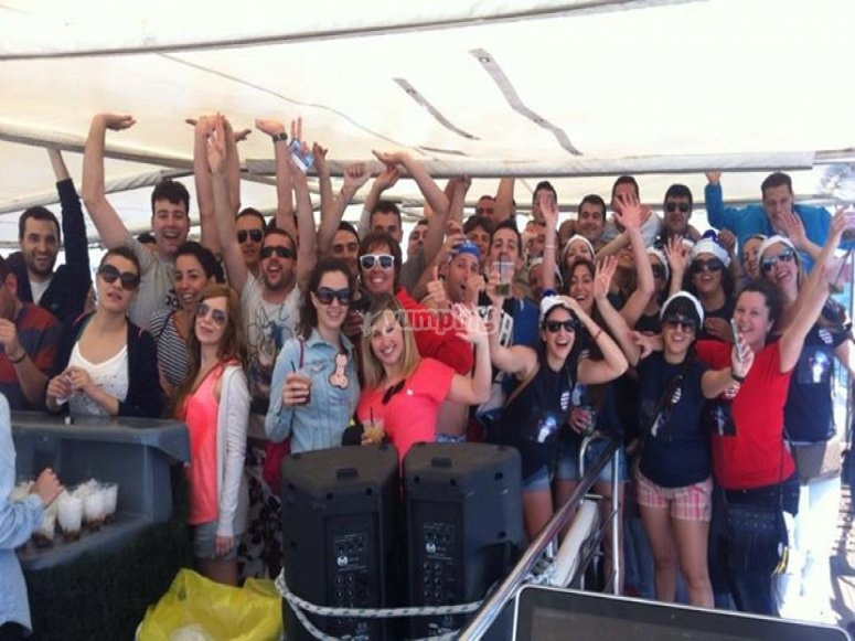 Despedida en party boat