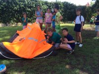 Inflating a rescue boat