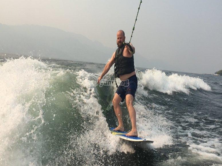 Surfing in Pelayos