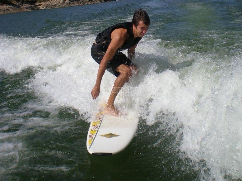 Surf en el embalse