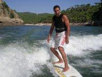 Wakeboarding surf in San Juan reservoir. 1h