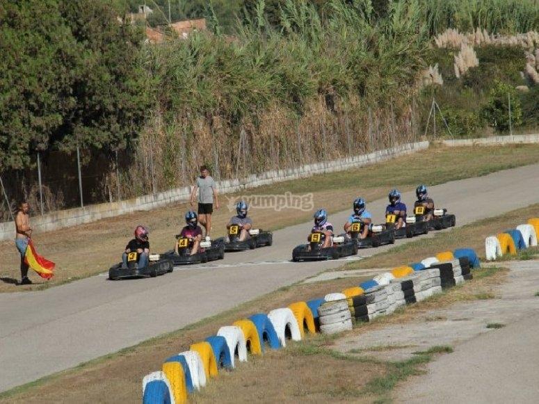 Competición de karting