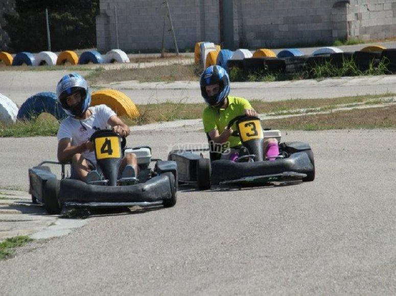Despedida de soltero con karting