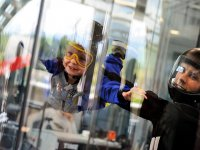 Kid in the wind tunnel