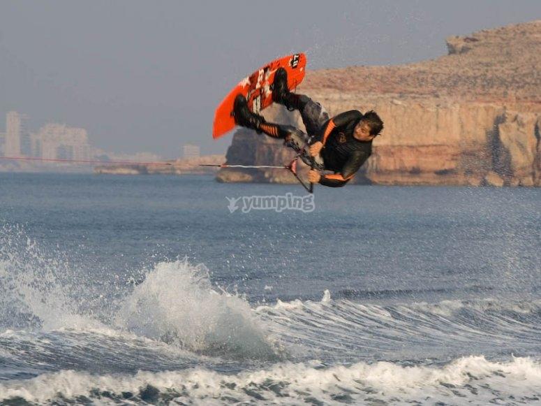 Piruetas en wakeboard
