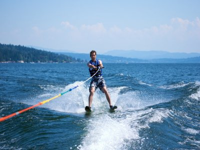 Waterskiing in San Juan Reservoir 20 min