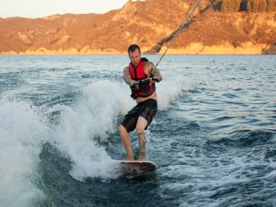 Surf Wake water reservoir of San Juan 20 min