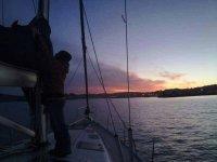 Regreso de las islas Sisargas en barco