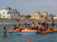Sharing pedal boats