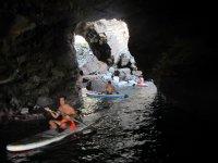 Kayaking through the cave