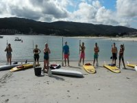 Reunidos para practicas paddle surf