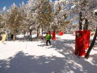 Circuito infantil en la nieve