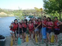 Preparadas para las canoas