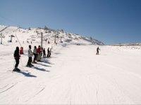 Clases de esqui en la estacion