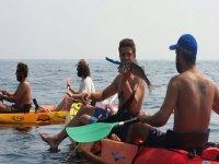 Kayak para pescar con amigos