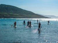 Disfrutando del mar, el SUP y los amigos