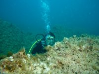 Diving with full gear in Jávea