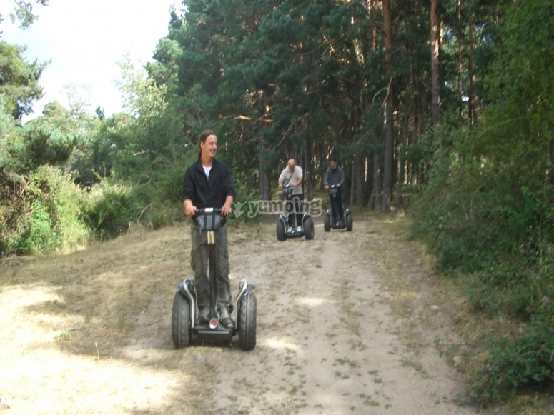 Travelling Soria with a segway