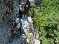 Climbing a hillside