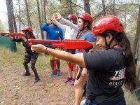 Shooting in the zip line area