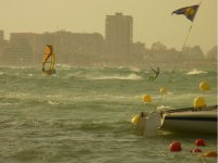Windsurfing controlling the wind