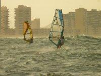 Windsurfers in The sleeve