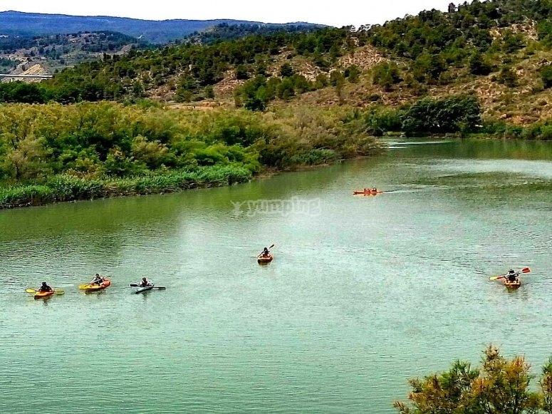 Escursione in kayak sul fiume Cabriel 2 ore