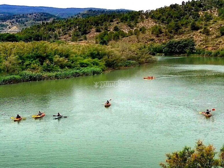 Paseo kayak río Cabriel 2 horas