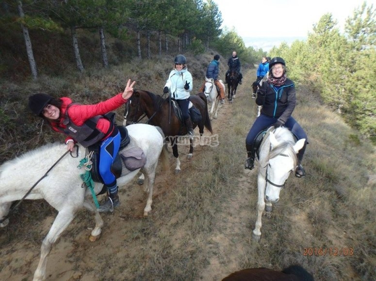 A cavallo attraverso la campagna