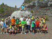 Trekking route in groups