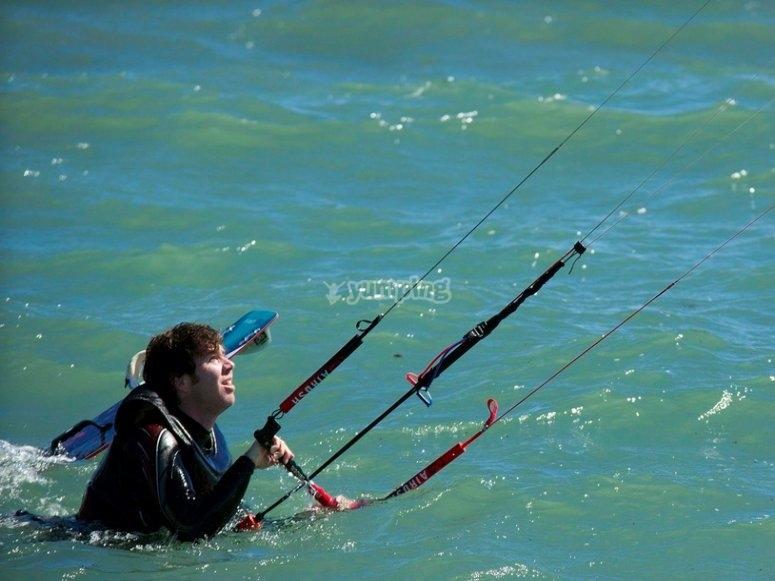 Curso de kitesurfing básico