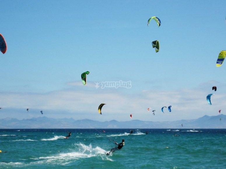 Clases de kitesurf en Mojácar para experimentados