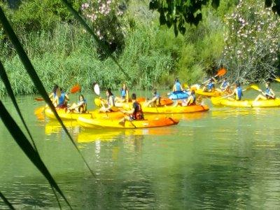 划独木舟的路线,平静的水域,卡布里埃尔河