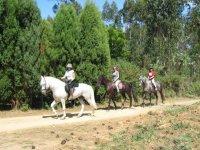Horse riding through the Galician mountain
