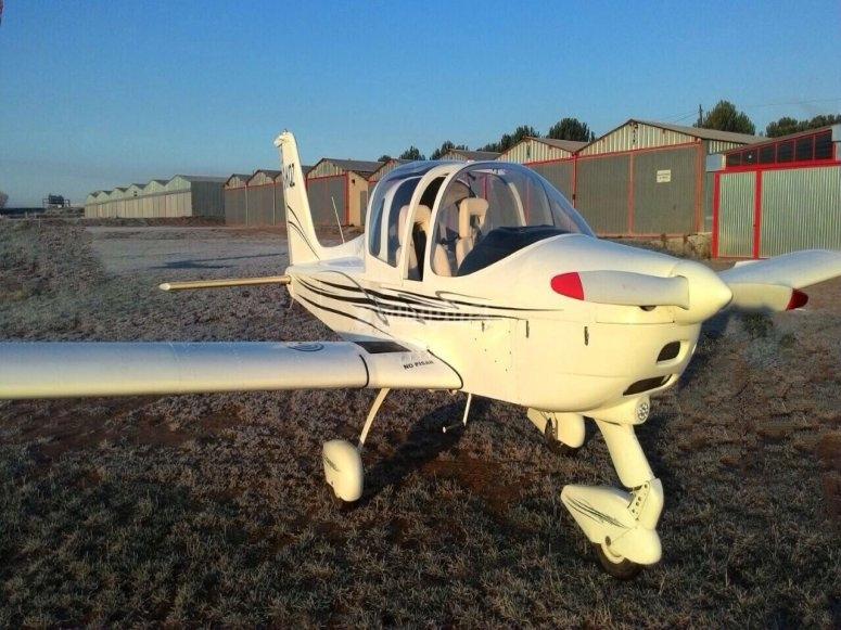 Our light aircraft in Cofrentes