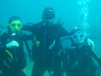 Divers on the seabed