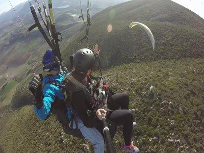 Vuelo en parapente con vídeo y fotos en Montellano