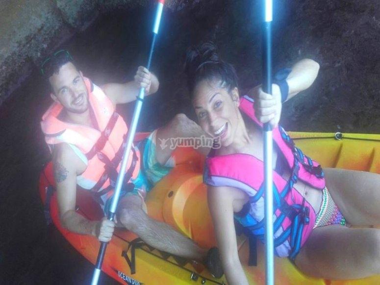 kayaks en pareja