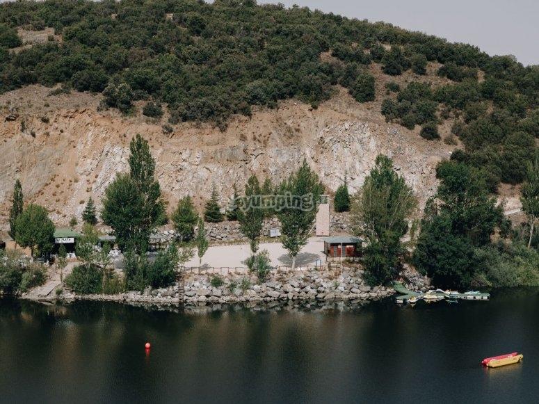 Jetski in the reservoir